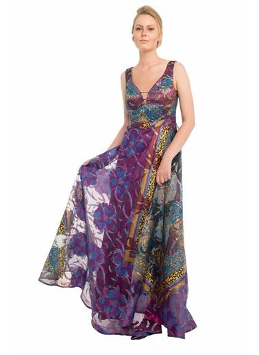 Pierre Cardin Uzun Abiye Elbise Mor